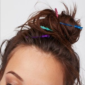 Free people lightning bolt hair pins. 4 NWT.